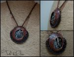 Aged Steampunk Necklace, Post-Apocalyptic by tuskandclaw