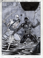 Snake Eyes vs Storm Shadow by davidnewbold