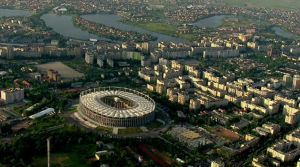 Pantelimon aerial view + National Arena by LiviuSquinky