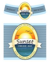 Sunset Cream Ale Label by DeFined04