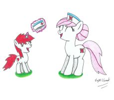 Filly Mendy and Redheart by UlyssesGrant