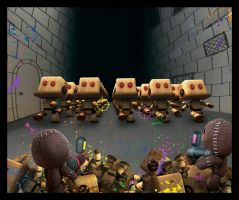 Little Big Planet2: Zombiebots by 2165dash4561