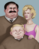 The Dursleys by upsidedownhat