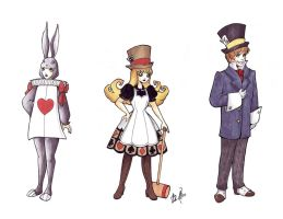 Ringmaster Character Sketches by sadwonderland