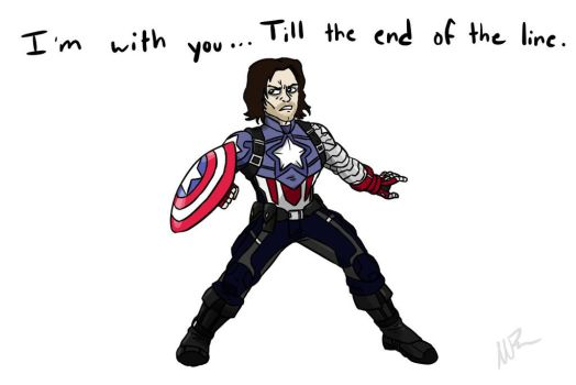 Bucky Barnes Captain America by GingerBaribuu