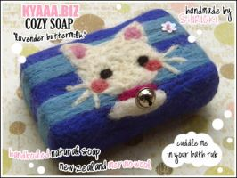 kyaaa.biz Soap - Lavender Cat by shiricki