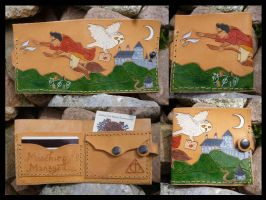 Harry Potter Inspired Leather Wallet by emma-hobbit