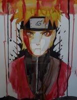 Naruto Watercolour Experimental by Jess-needs-username
