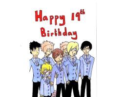 Ouran Host Club-Birthday Card by Hitachiin-Sister