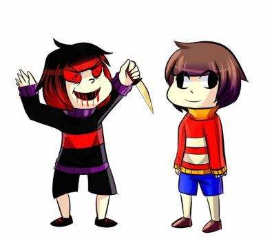 Underfail frask and chara by skatesai5
