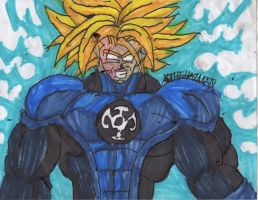Trunks blue lantern USSJ by ChahlesXavier