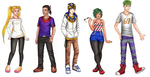 RC Main Characters by TheDayIsSaved