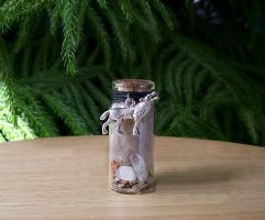Gray Wolf Spirit Totem Altar Bottle by DaybreaksDawn