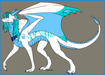 Cecelia the Ice Dragoness by SassyDragon18