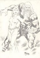 Mystique and Sabertooth by Fredbenes