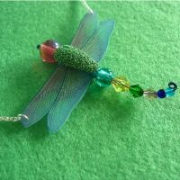 Dragonfly Necklace Pendant by Mimi-Mushroom