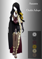 (closed) BUY NOW - Outfit Adopt - Assassin by CherrysDesigns