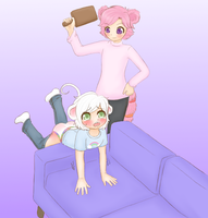 Koobi and Ollie #2 (Commission, spanking content) by Pastel-Hime