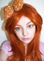 Orange hair girl Stock by cherrybomb-81