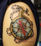 Compass Tattoo by dmillustration