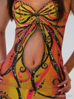 Butterfly Dress Body Painting by cats-creations