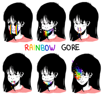 Rainbow Gore by catsinthebox
