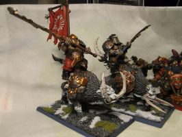 mournfang cavalry by badbunnyDEVI