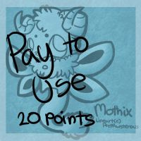 :Pay to Use Mothix Lineart:(20 points) by PrePAWSterous