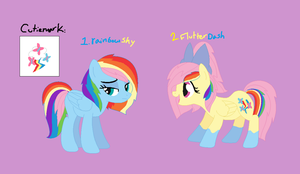 Pony Adopts!: FlutterShyxRainbowDash! c: (Closed) by Love-a-Pink
