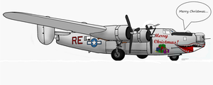 A B-24 Wishes You 'Merry Christmas' by Der-Buchstabe-R
