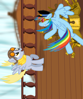 Flight Of The Harmony: Airship Carousel by SteamPoweredStallion