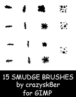 15 GIMP Smudge Brushes by crazysk8er21192