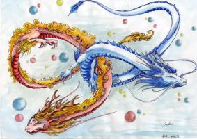 Lung Dragons by lacie-alice
