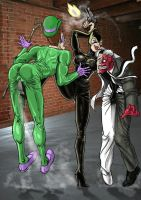 Catwoman Fight The Riddler & 2 Face by nicetarget