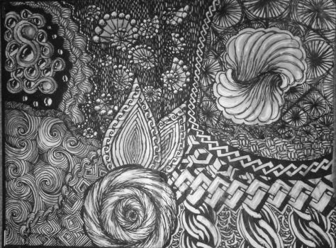 Zentangle doodle 2 by RiddlerMeThis