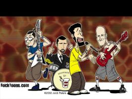 System Of A Down Cartoon by Tyrantastorga8