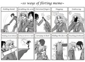 10 ways of flirting meme by Chitanzer
