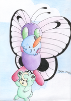 Butterfree, let them go ! by Hiryae