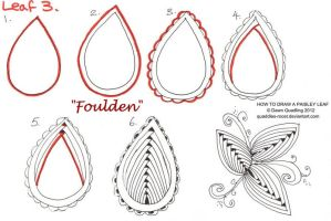 How to draw Paisley Leaf 03 Foulden by Quaddles-Roost