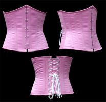 Pink Underbust by WaistedSpace