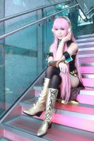 Megurine Luka cos by Soso. by I-Love-Claymore