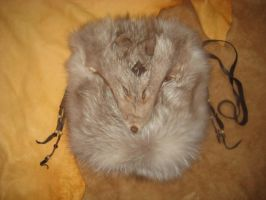 Amber fox pelt pouch by lupagreenwolf
