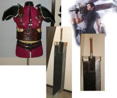 Zack Fair Armor and Sword by AmethystArmor