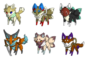 Fox Adoptables! OPEN! :3 by KittensEatPi