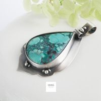 Simple pendant witch adorable turquoise by dora-designstudio