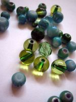 Green beads - close up by didyoubelieve