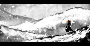 Ygritte black and white by Beatrix-soleneg