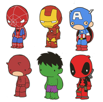 Lil' Marvels by toadcroaker