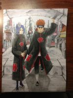 Pein and Konan (finished!) by Daisystarre