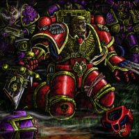 Space marine falling by NickHerbert
